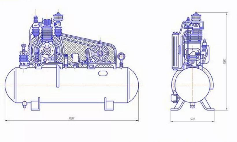 Конструкция воздушного компрессора