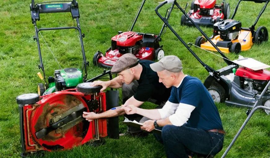 Сервис. обслуживание газонокосилок