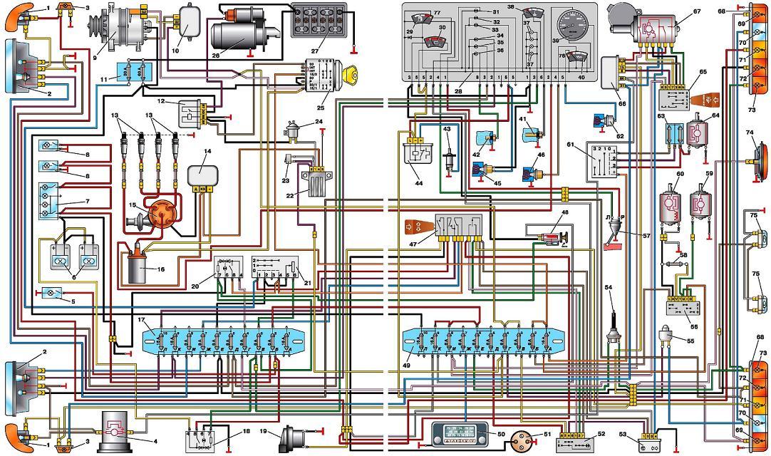 электрическая схема газель 2705