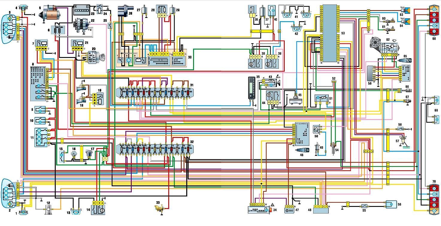 электрическая схема газель новая