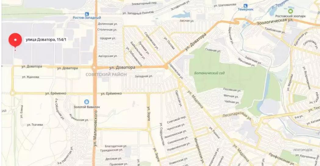 Где починить Газель в Ростове, карта СТО